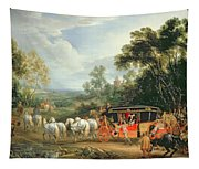 Louis Xiv In His State Coach Tapestry