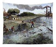 Louisiana Broken Levee Tapestry