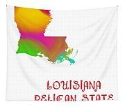 Louisiana State Map Collection 2 Tapestry