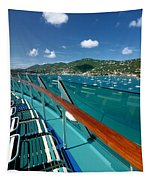 Lounge Chairs On Cruise Ship Tapestry