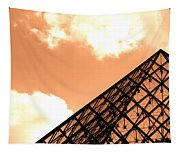 Louvre Pyramid Top Edited Tapestry
