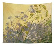 Lovage Clematis And Shadows Tapestry