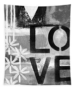 Love- Abstract Painting Tapestry by Linda Woods
