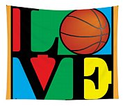 Love Basketball Tapestry