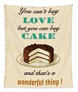Love Cake Typography Tapestry