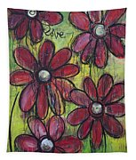 Love For Five Daisies Tapestry