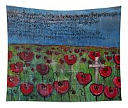 Love For Flanders Fields Poppies Tapestry