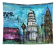 Love For London Tapestry