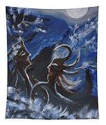 Love For Moon Light Tapestry