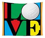 Love Golf Tapestry