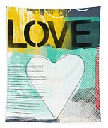 Love Graffiti Style- Print Or Greeting Card Tapestry by Linda Woods