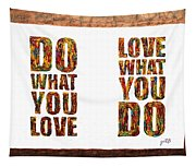 Love In Life Acrylic Palette Knife Painting Tapestry