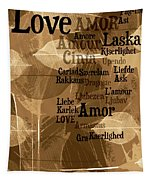 Love Leaves Tapestry