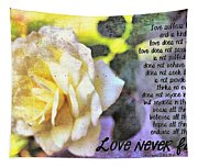 Love Never Fails Tapestry