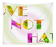 Love Not Hate Rainbow Crazy Daisies Tapestry