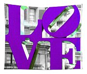 Love Philadelphia Purple Tapestry