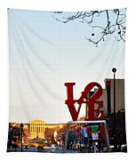 Love Statue And The Art Museum Tapestry