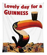 Lovely Day For A Guinness Tapestry by Georgia Fowler
