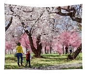 Lovely Spring Day For A Walk Tapestry