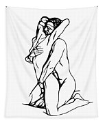 Lovers Expressionism Tapestry