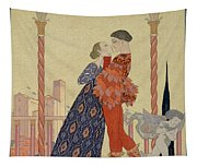 Lovers On A Balcony  Tapestry