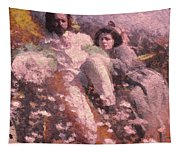 Lovers On The Beach Tapestry
