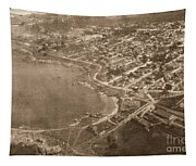 Aerial Of Lovers Point And Pacific Grove California July 10 1906 Tapestry