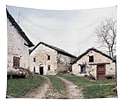 Low Angle View Of Houses In A Village Tapestry