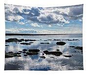 Low Tide At Lyme Regis 2 Tapestry