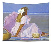 Low Tide Lady Tapestry