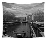 Lowell Ma Architecture Bw Tapestry