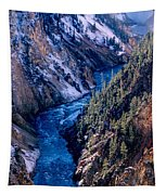 Lower Falls Into Yellowstone River Tapestry