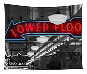Lower Floor Selective Black And White Tapestry