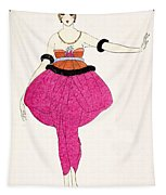 Lucile - Design For A Dress Tapestry
