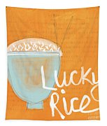 Lucky Rice Tapestry by Linda Woods