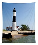Ludington Michigan's Big Sable Lighthouse Tapestry