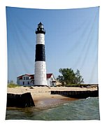 Ludington Michigan's Big Sable Lighthouse Tapestry