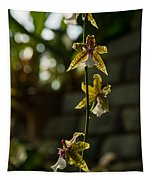 Luminous Chain Of Orchids Tapestry