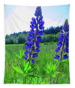 Lupine Flower Tapestry