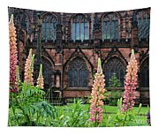 Lupines At Chester Cathedral 6805 Tapestry