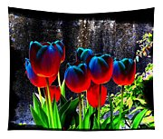 Lustrous Tulips Tapestry