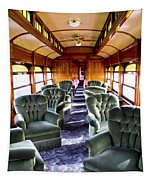 Luxury Lounge Car Of Early Railroading Tapestry