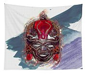 Maasai Mask - The Rain God Ngai Tapestry