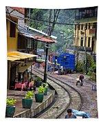 Macchu Picchu Town - Peru Tapestry
