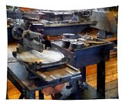 Machine Shop With Punch Press Tapestry