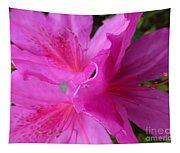 Macro Purple Azalea Flower Tapestry