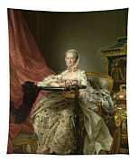 Madame De Pompadour At Her Tambour Frame Tapestry