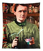 Madame Marie Curie Shaking Up A Killer Martini At The Swank Hipster Club 88 20140625 With Text Tapestry