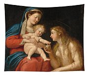 Madonna And Child With Mary Magdalene  Tapestry