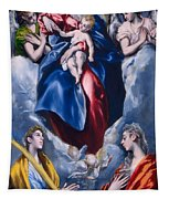 Madonna And Child With Saint Martina And Saint Agnes Tapestry